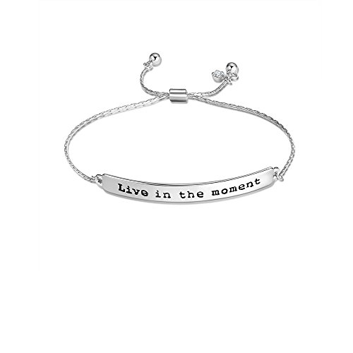 Star and Sea Be Brave/Follow Your Dreams/Live in The Moment Adjustable Expandable Chain Bracelet (Live in The Moment)