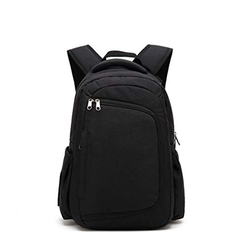 HQLCX Mummy Bags Sacs Imperméables de Voyage de Maman de pour Le Soin de Bébé Sac de Couche-Culotte de Bébé Transporteur Extérieur de Randonnée,Black