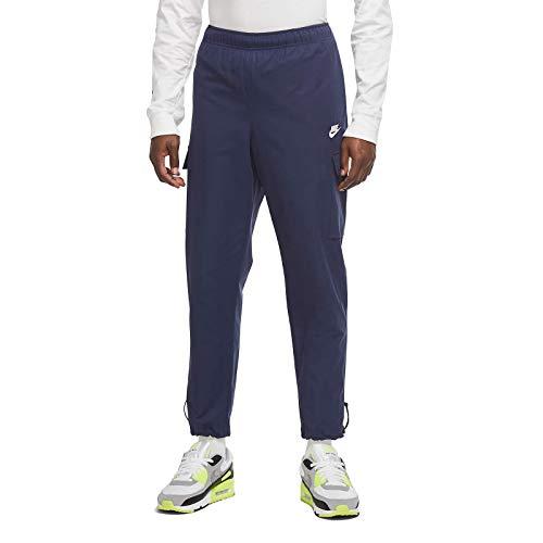 Nike Sportswear Pantalones tejidos de tela cruzada y bolsillos de carga Cu4325-410 - azul - Small