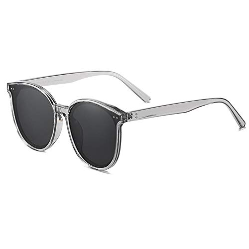 Gafas De Sol Gafas De Sol Polarizadas De Gran Tamaño para Mujeres Hombres Protección UV Redonda Gafas De Sol Vintage-003_Grey