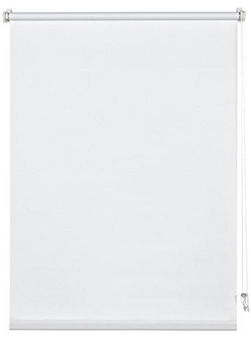 Deco Company Rollo zum Klemmen, Tageslicht-Rollo, Blickdicht, Alle Montage-Teile inklusive, Klemmrollo Uni, Weiß, 100 x 150 cm (BxH)