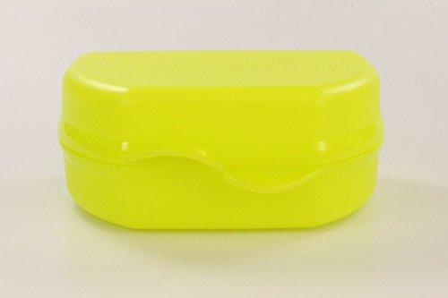 TUPPERWARE Snacky To Go Brotbox Pausenbrot Dose gelb-grün 9919