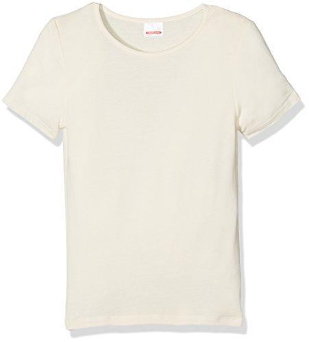 Damart Damart Mädchen Tee-Shirt Manches Courtes Thermolactyl Sensitive Thermounterwäsche - Oberteil, Écru (Écru), 4 Jahre
