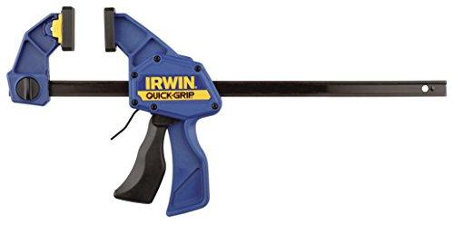 Irwin Quick-Change Einhand-Zwinge 300 mm 2 Stück, Haltekraft 135 kg, Spreizfunktion, T5122QCEL7