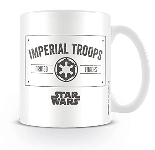 1art1 Star Wars, Imperial Troops Taza Foto (9x8 cm) Y 1x Taza Sorpresa