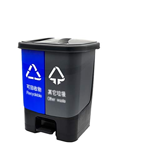 ZWD Park Recycling Box bostadsområde offentlig plats Factory soptunna Pedal Typ Plastic multifunktions Classification papperskorgen Papperskorgar (Color : A, Size : 27.5 * 29.5 * 38)