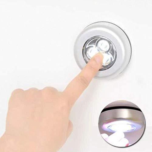 Set Warmweiß LED Nachtlicht mit Touchsensor Dimmbar Batteriebetrieben Touch Lampe Schrankleuchte Küchenlampe (1 Packung)