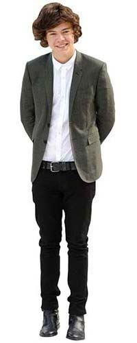 Celebrity Cutouts Harry Styles (Grey Blazer) Pappaufsteller lebensgross