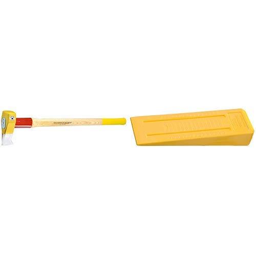 Ochsenkopf OX 635 H-3009 Profi-Holzspalthammer Big Ox® / Hochwertiger Spalthammer mit Hickory-Holzstiel und Rotband-Plus Stielbefestigung / Gewicht: 4200 g & OX 34-0400 Kunststoff-Fällkeil LABRADOR