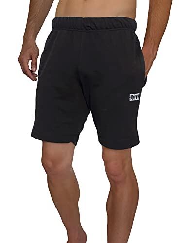 La Cosa Tiene Tela Pantalones Cortos de Deporte para Hombre, Estilo Jogger. Pantalones de Chandal Pitillo con Bolsillos y Cintura Elastica Ajustable.