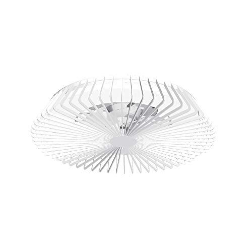 Mantra Iluminación. Modelo HIMALAYA. Ventilador y plafón de techo de 63 cm de diámetro en color blanco. Fuente de luz LED 70W 2700K-5000K 4900lm. Ventilador 35W