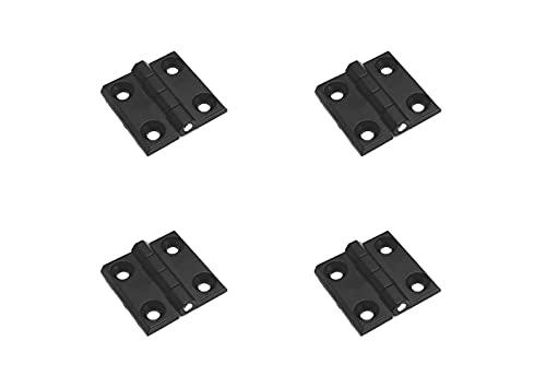 4 Stück Metallscharnier 40x40mm schwarz Klappscharnier Scharnier Anschraubscharnier Scharniere für Garten, Boot oder Maschinenbau. Diese Scharniere sind vielseitig einsetzbar.