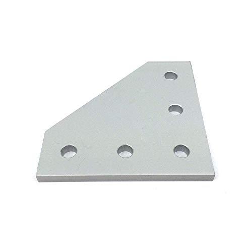 Buena estabilidad Accesorios de impresora 10 unids Plata o negro impresora 3D 90 grados Placa de unión con 5 hoyos para O-PenBuilds CNC V-Slot 2020 3030 4040 Perfiles de aluminio Piezas de impresora 3