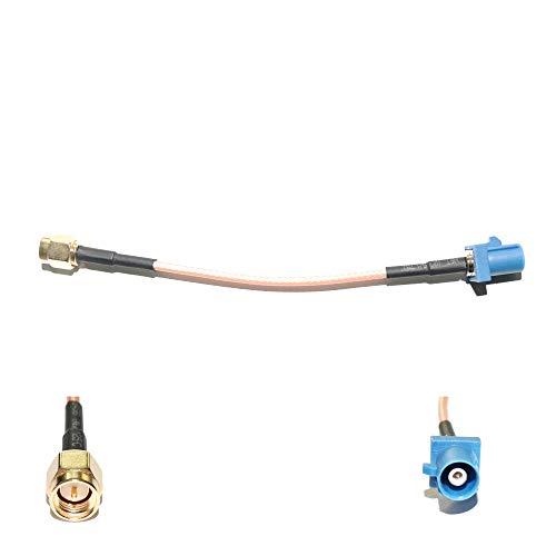 XISEDO Adaptateur D'antenne GPS Fakra à SMA Plug pour Voiture DVR GPS Modul Antenne de Suivi Système de Navigation GPS Autoradio GPS Récepteurs
