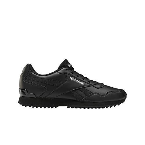 Reebok Damen Royal Glide Ripple Clip Sneaker, Black/Black/Silver Metalllic, 38.5 EU