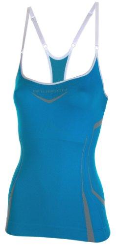 Brubeck Soutien-gorge de fitness (ski alpin, ski de fond, cyclisme, yoga, pilates, TaiChi, méditation, sports de combat...) Bleu CM10070 / blau XL