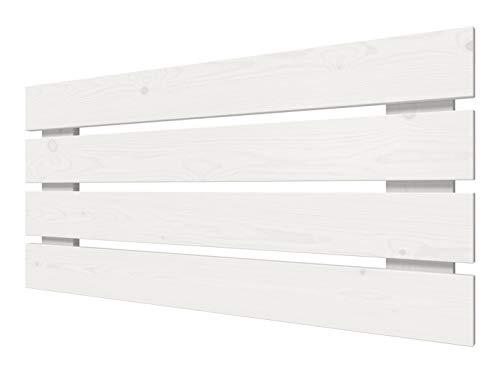 LA WEB DEL COLCHON - Cabecero de Madera Rústico Lombardía para Cama de 90 (100 x 50 cms) Blanco nórdico | Cabeceros Madera | Dormitorio Matrimonio | Cabezal Cama |Estilo nórdico