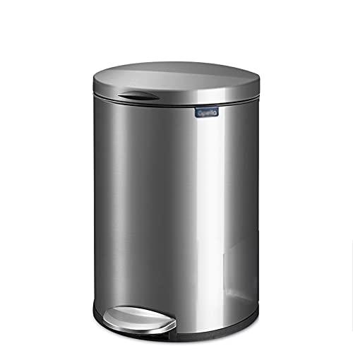 YIFEI2013-SHOP papeleras Bote de Basura de Acero Inoxidable con Tapa silenciosa y Suave Cerca, Papel de Basura del Pedal de 12 litros para la Cocina, el hogar, la Oficina Bote de Basura (Color : D)