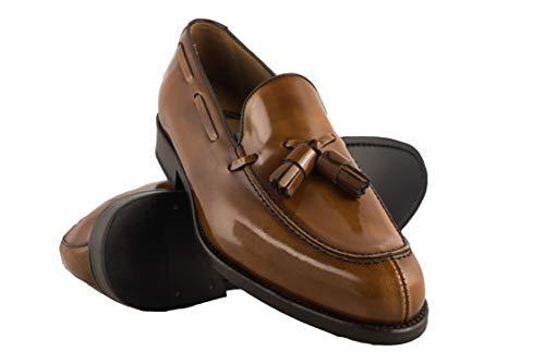 clasificación y comparación Zapatos de hombre Zerimar Castellano    Mocasines con máscara para hombre Mocasines con borlas para hombre  … para casa