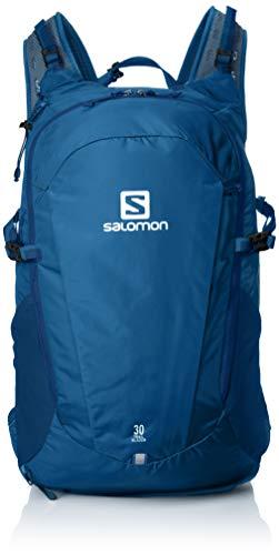 Salomon Trailblazer 30 Mochila Ligera para Senderismo o Ciclismo, 30 L, Unisex Adulto, Azul (Poseidon), Talla única