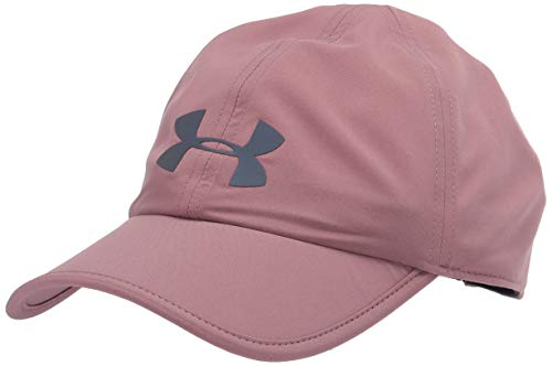 Under Armour Run Shadow Cap, Hushed Pink (662)/Black, One Size Fits all