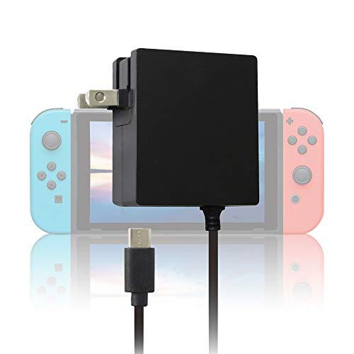 【Amazon.co.jp限定】ALLONE(アローン) Nintendo Switch/Switch Lite用 ||PSE認証済|| ドック対応 AC充電器 1.5m 急速充電 コンパクト Type-Cポート ニンテンドースイッチ 任天堂スイッチ Proコントローラー対応 日本メーカー ブラック