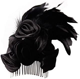 Arsimus Steampunk Gothic Feather Hair Pin