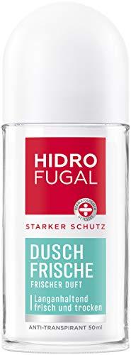 Hidrofugal Dusch-Frische Roll-on (50 ml), starker Anti-Transpirant Schutz mit angenehm frischem Duft, Deo für starken Schutz ohne Ethylalkohol