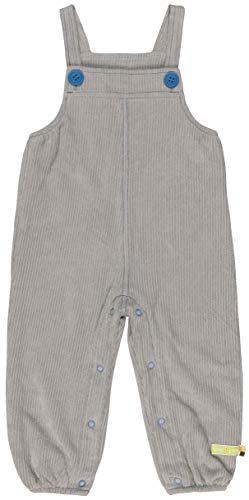 loud + proud Elastische Cord-Latzhose Aus Bio Baumwolle, Gots Zertifiziert Pantalones de Peto, Gris (Grey Gr), 68 (Talla del Fabricante: 62/68) para Bebés