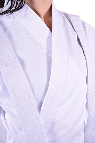 Ofbos® Kimono Karate Uomo Donna Bambino Completo più Cintura Kimono Arti Marziali Judo Karate Basic (190cm)