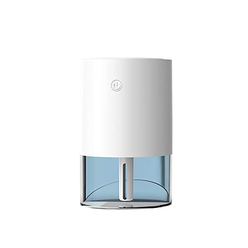 Portable Mini Humidifier, Small Cool Mist Humidifier with Night Light, USB Personal Desktop Humidifier for Baby Bedroom Travel Office Home, Auto Shut-Off, 2 Mist Modes, Super Quiet (White)