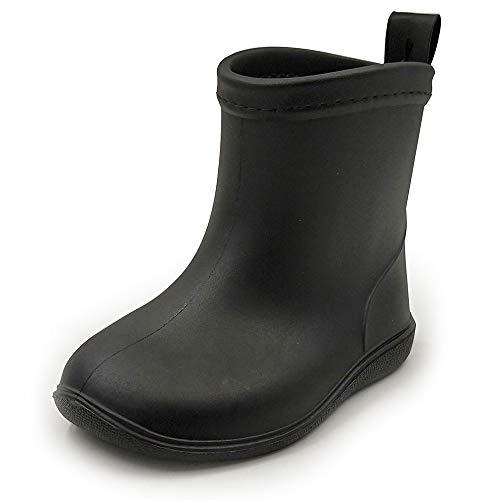 Baby Rainboots Rain Boots Boys Kids Toddlers Girls Rain Shoes Easy On Lightweight Waterproof Black 6-6.5 Toddler