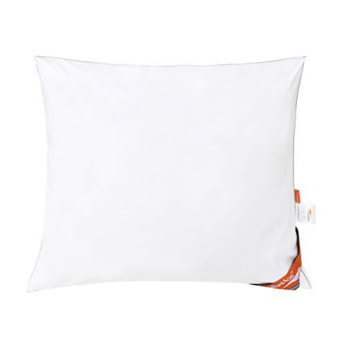 ComfortAce® Monet Kopfkissen aus Baumwolle Bezug antiallergisch für Allergiker, 100% hochwertiger Mikrofaser,Soft-Komfort atmungsaktiv Kissen Weiß Enthält antibakterielle Ag+ (60x70cm)