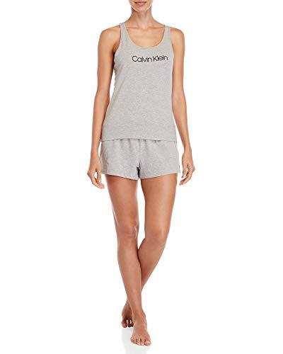 Calvin Klein Conjunto de Pijama sin Mangas de 2 Piezas para Mujer