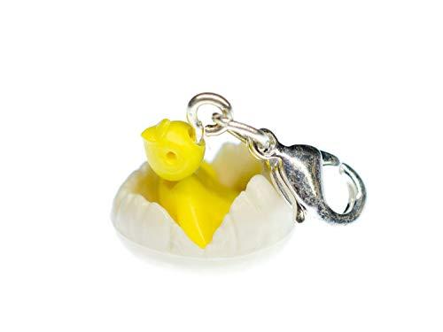 Miniblings Charm s Chick Charm Guscio d'uovo Pulcino Uccello Uovo di Uccello