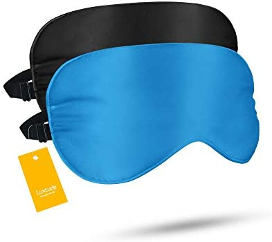 Luxtude 2 Pack Silk Eye Masks for Sleeping Blackout Natural Mulberry Silk Sleep Masks Organic product image
