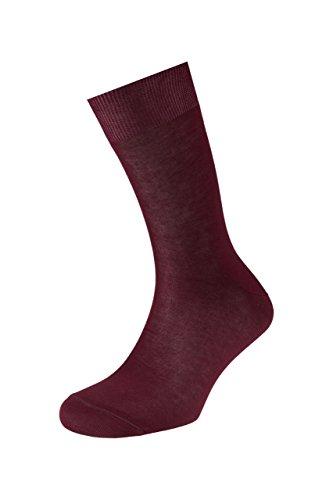 EJECUTIVO - Par de Calcetines modelo 1000 Short - Tamaño Corto - Diseño Liso - Tacto muy agradable - Material de gran calidad - Punto Algodón - Pack de 3 - Color Granate - Talla L