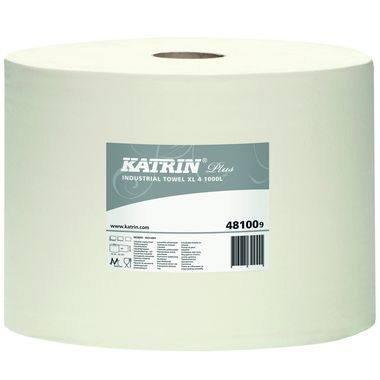 Preisvergleich Produktbild Katrin Wischtuch Plus XL 4 481009 265mmx360m weiß 1.000Blatt