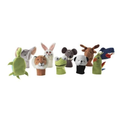 IKEA TITTA DJUR -Fingerpuppe verschiedenen Farben / 10 Stück
