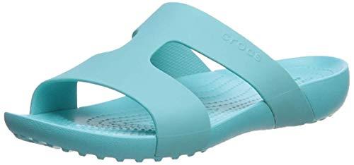 crocs Serena Slide W, Zapatos de Playa y Piscina para Mujer, Azul...