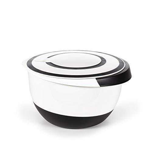 Oramics Rührschüssel 5 Liter – mit Stoppboden – Teigschüssel, Kochschüssel, Salatschüssel zum universellen Einsatz beim Kochen und Backen