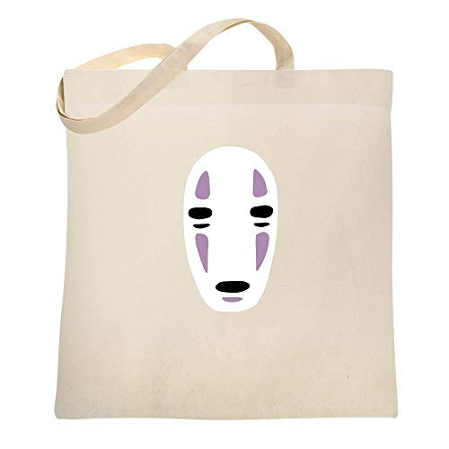 No Face Kaonashi Nerd Apparel Geek Natural 15x15 inches Large Canvas Tote Bag Women