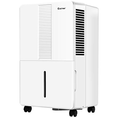 Best Deals! COSTWAY Portable Dehumidifier 1500 Sq. Ft w/Wheels and Drain Hose Outlet to Remove Mold,...