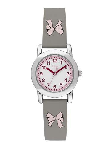 s.Oliver Mädchen Analog Quarz Uhr mit Silikon Armband SO-3914-PQ