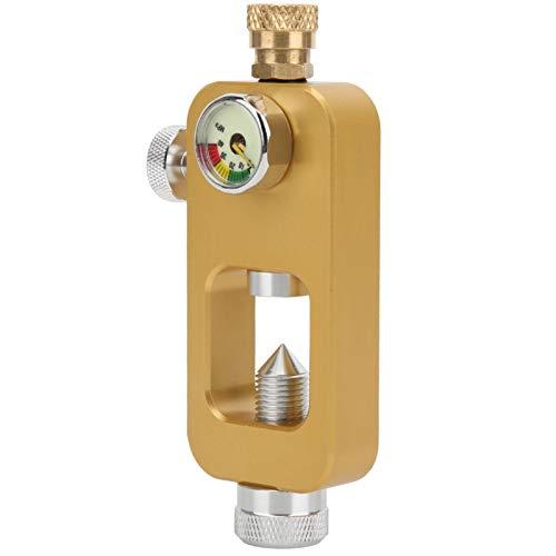 DAUERHAFT Adaptador de Botella de oxígeno de tamaño pequeño, para Cilindro de oxígeno, para Buceo(Golden)