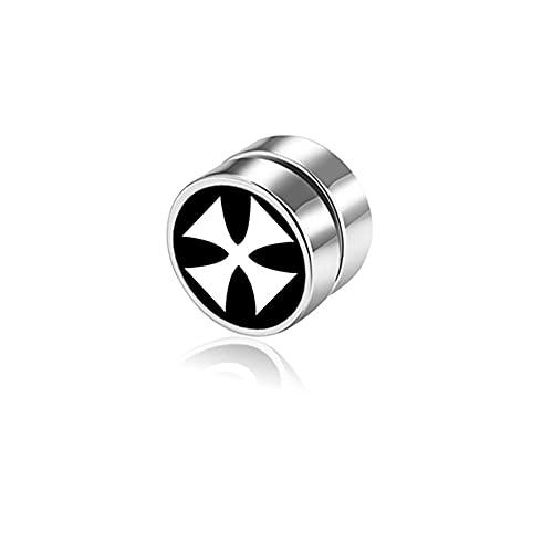 X/L 1 par de pendientes magnéticos de acero inoxidable fuertes para hombres y mujeres, pendientes falsos no perforados, clip no perforado, pendientes falsos hipoalergénicos (color: 021)