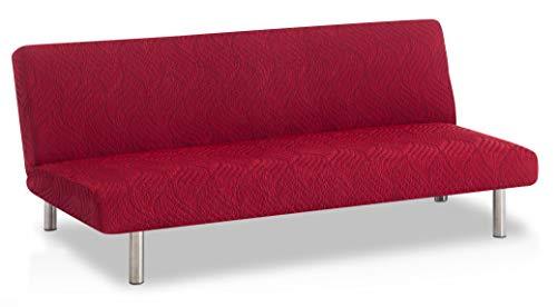Bartali Stretch Sofabett-Husse klick-klack Aitana - Farbe Granatrot -Standard Maß (von 170 bis 205)