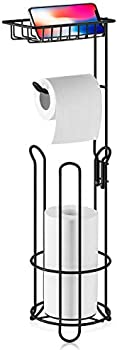 XEEX Free Standing Toilet Paper Holder with Shelf