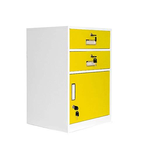 LDDLDG Archivador de Oficina Moderno archivador Vertical para el hogar, Soporte para Impresora, con 2 cajones y 1 Puerta, archivador con Pedestal de Metal Debajo del Escritorio, E