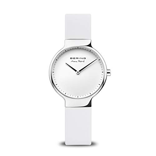 BERING Damen Analog Quarz Max René Collection Armbanduhr mit Silikon Armband und Saphirglas 15531-904